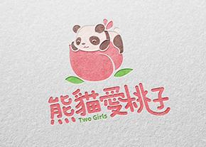 熊貓愛桃子