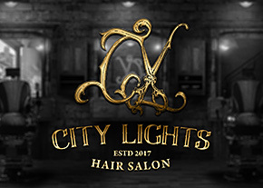 CityLights美髮沙龍Logo設計-台中Logo設計推薦